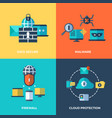 network security data protection concepts vector image