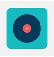 Musical record icon vector image