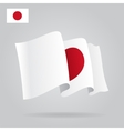 Flat and waving Japanese Flag vector image vector image