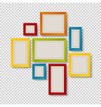 group of colorful frames vector image