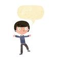 cartoon startled boy with speech bubble vector image