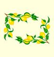 stylized lemon corner frame vector image vector image