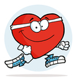 Jogging Heart vector image