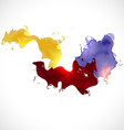 Abstract smooth colorful flow on white background vector image