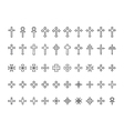 Big collection of crosses contours vector image
