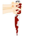 Blood on knife vector image