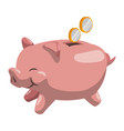 piggy money savings vector image
