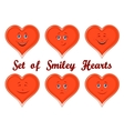 Valentine Holiday Hearts with Faces vector image vector image
