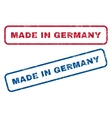 Made In Germany Rubber Stamps vector image