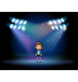 A boy smiling at the stage vector image vector image