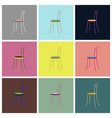 assembly flat icons chair vector image