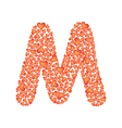 letter m made of valentines vector image