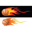 Basketball flying through air vector image vector image