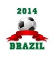 2014 Brazil Soccer emblem vector image vector image