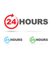 24 hours icon set vector image