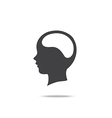 Blank brain people head icon isolated on white vector image