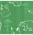 seamless background with forest animals vector image vector image