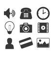 applications menu design vector image