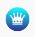 crown icon regal monarch sign vector image
