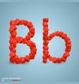 cubes as a symbol font b vector image