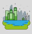 eco energy go green environmental and ecology vector image