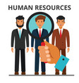 human resources concept recruitment business vector image