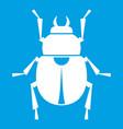 scarab icon white vector image
