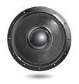 Sound speaker isolated vector image