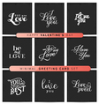 Valentines Day Minimal Greeting Card Set vector image