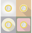business and finance flat icons 06 vector image vector image