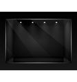 Dark empty show window of shop vector image