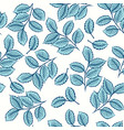 seamless pattern with cute leaves vector image vector image