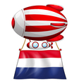 A balloon with the flag of Netherlands vector image