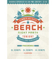 Retro beach poster design vector image