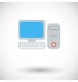 Computer flat icon 2 vector image vector image