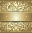 Luxury gold background with ornament vector image