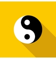 Ying yang icon in flat style vector image