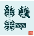 Globe icon isolated vector image