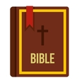 Bible book icon flat style vector image