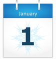Calendar page for January 1 vector image
