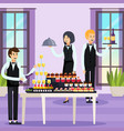 catering orthogonal composition vector image