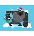 Christmas gorilla character vector image