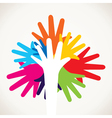 colorful hand stock vector image