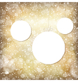 golden background with balls vector image