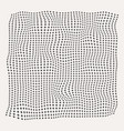 halftone waves plus symbol pattern on old white vector image