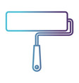 paint roller icon gradient color silhouette from vector image