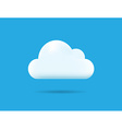 Professional Cloud Icon Isolated on Blue vector image