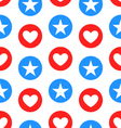 Seamless Texture Star and Heart vector image