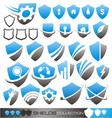 Security shield - symbols icons and logo concepts vector image