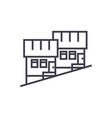 townhouse line icon sign on vector image